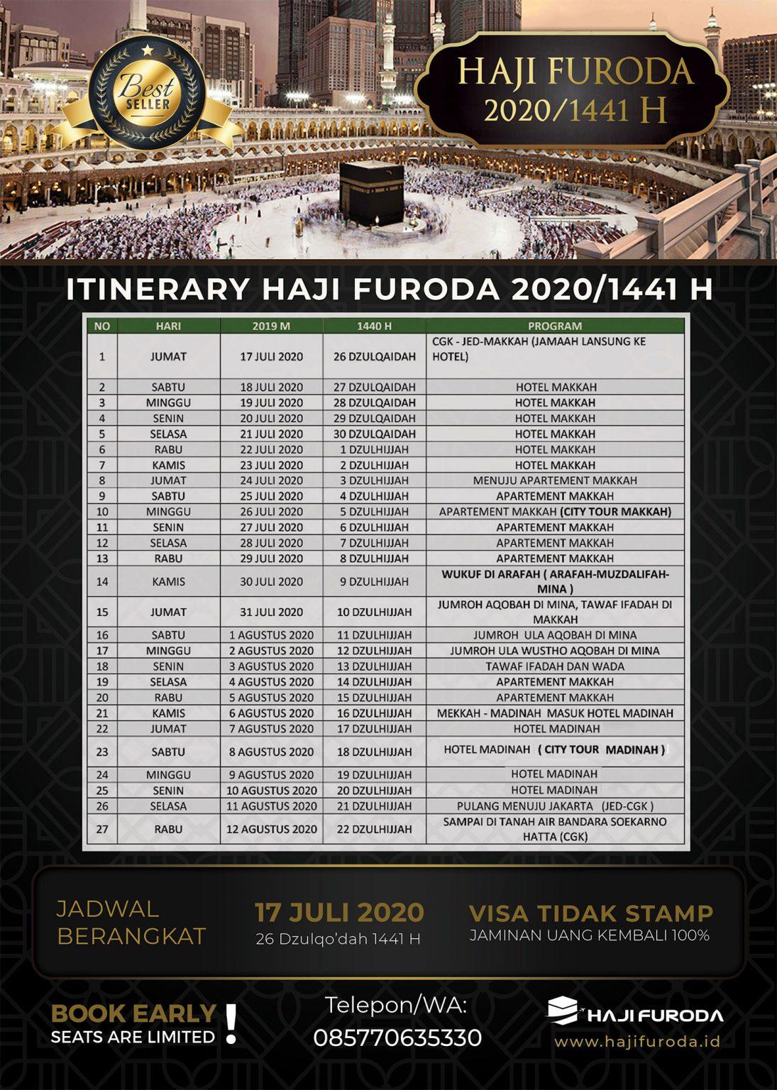 Itinerary Haji Furoda 2020