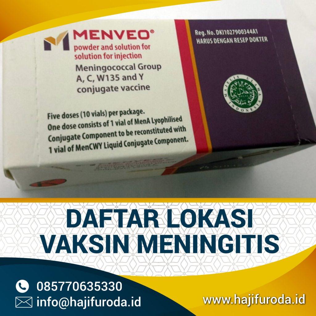 Daftar Tempat Vaksin Meningitis