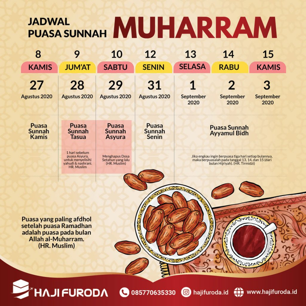 Jadwal Puasa Bulan Muharram