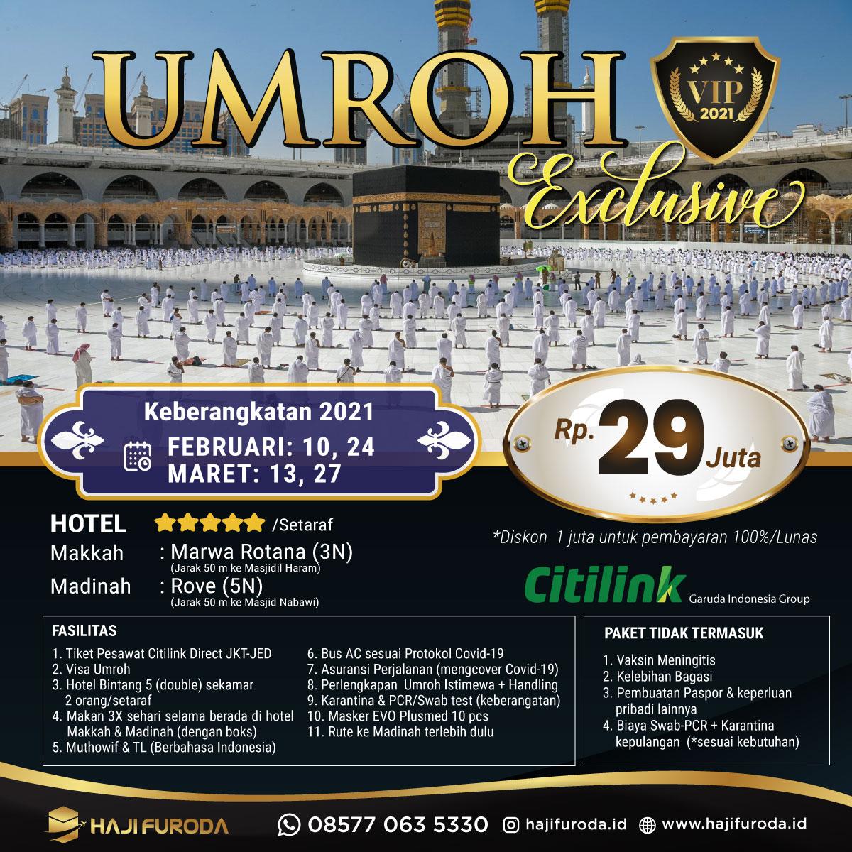 Promo Umroh Februari Maret 2021 bersama Haji Furoda