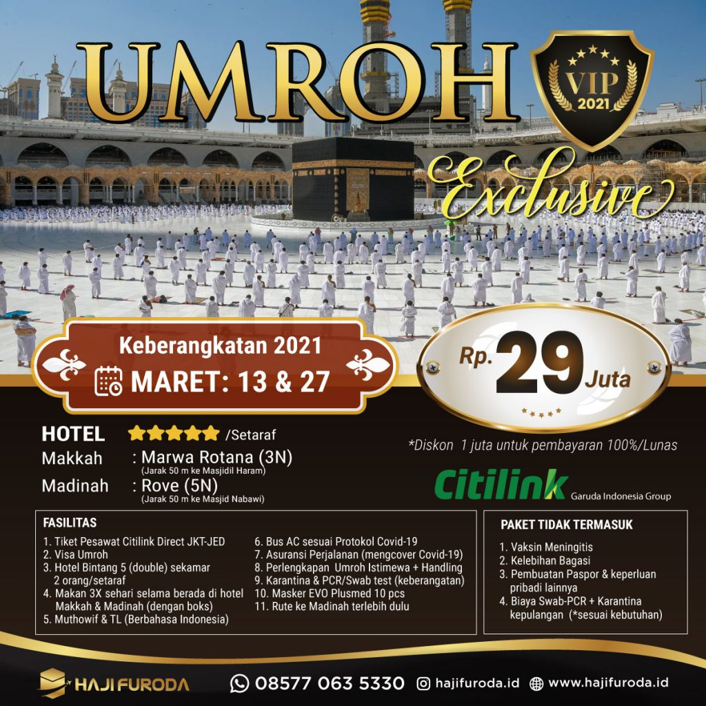 Promo Umroh Maret 2021 bersama Haji Furoda